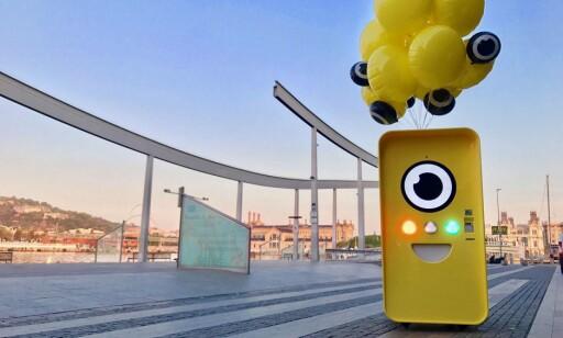 GUL: Slik ser en av Snapbot-ene ut, automatene hvor du kan kjøpe Spectacles. Foto: Produsenten