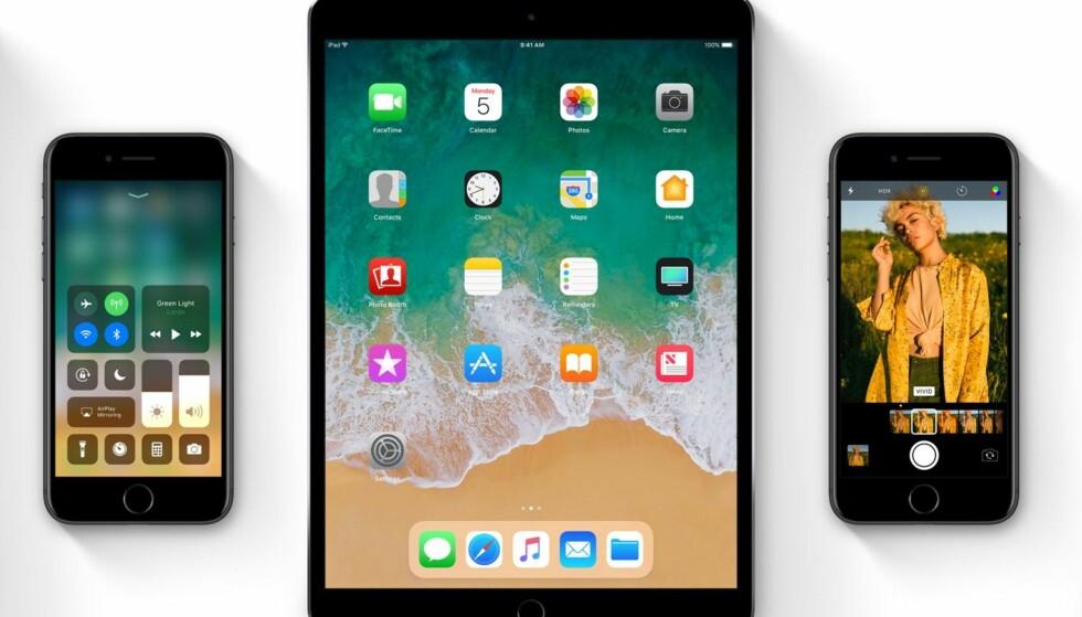 BLIR SNART NYE: Med ny programvare får du så å si nye enheter. Men oppdateringen kommer ikke før til høsten. Foto: Apple