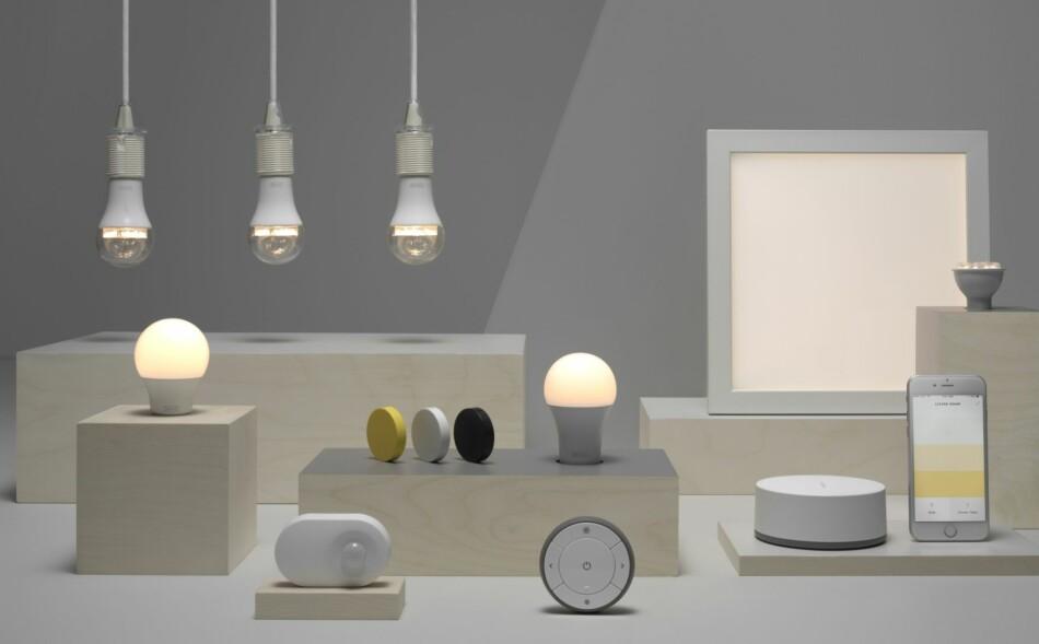 OPPDATERES: Snart kan du snakke til Ikeas smarte lyspærer, gjennom Siri, Alexa eller Google Assistant. Foto: Ikea
