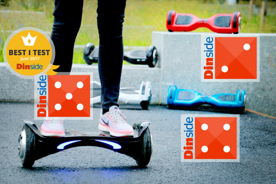 TEST AV HOVERBOARD: Vi har testet fem hoverboard fra 1.500 til 3.500 kroner:  HX fra XXL, Rustas eget hoverboard, ORB Wheel fra Teknikmagasinet, Andersson balansescooter 2.3 fra NetOnNet og Airboard Denver fra Coolstuff. Og ja: Her er det store forskjeller! Best i test er HX SUV fra XXL. Foto: Ole Petter Baugerød Stokke