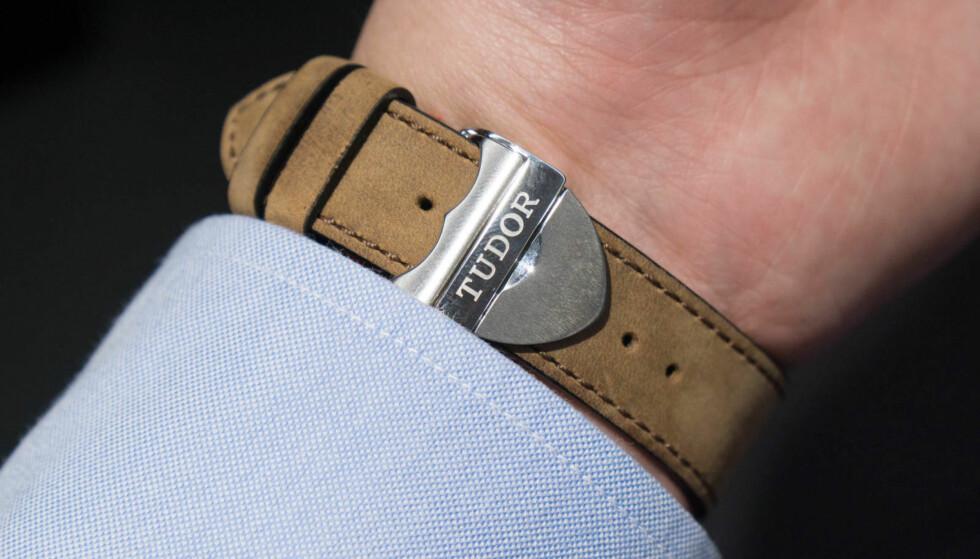 ORIGINAL: En skinnrem som leveres med klokken kan ha en stiv pris. Foto: Tidssonen.no