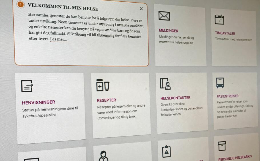SJEKK SELV: Så langt er det rundt 90 legekontorer som leverer tjenestene via helsenorge.no. Sjekk nede i saken om det gjelder din fastlege. Foto: Hanna Sikkeland.