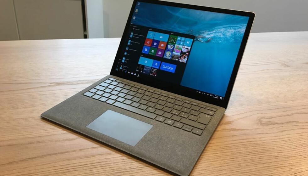 RENT OG PENT: Microsoft Surface Laptop er en meget god maskin som bør vurderes av alle som er ute etter en lett og solid PC med god batteritid. Foto: Bjørn Eirik Loftås
