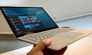 TYNN OG LETT: Microsoft Surface Laptop. Foto: Bjørn Eirik Loftås