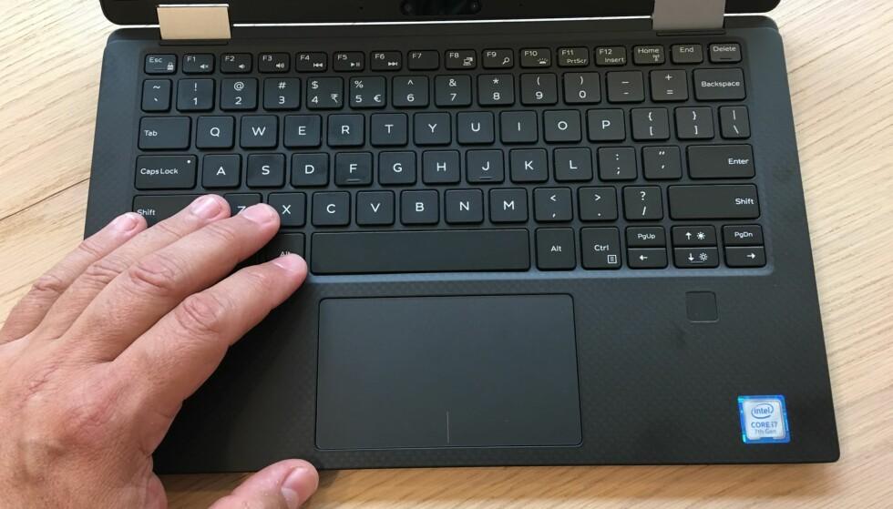GODE GREIER: Tastaturet er stort nok til at touch-metoden aldri ble noen utfordring for testeren. Foto: Bjørn Eirik Loftås