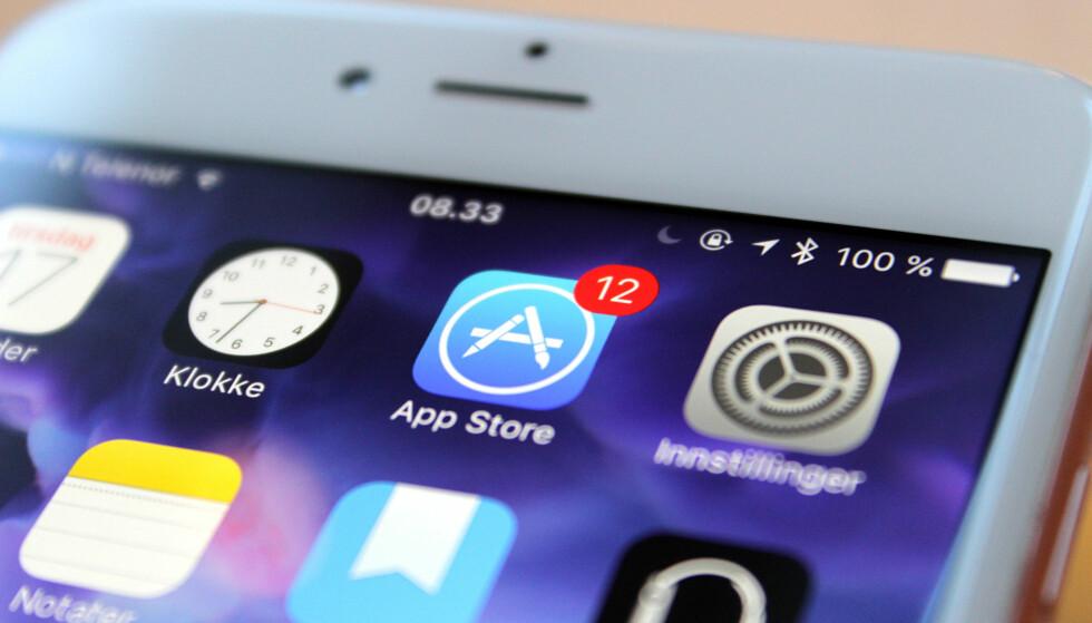 STADIG STØRRE: Statistikk fra nettstedet sensortower.com viser at de ti mest populære iPhone-appene har blitt over ti ganger så store i løpet av fire år. Foto: Kirsti Østvang