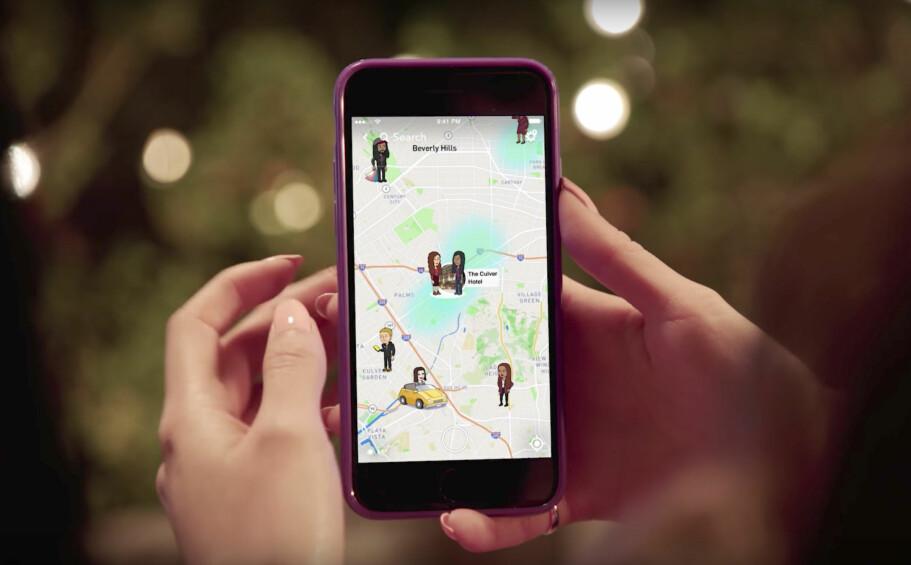 PÅ KARTET: Nå kan du se hvor Snapchat-vennene dine befinner deg og se snaps fra hele verden. Foto: Snap Inc / YouTube