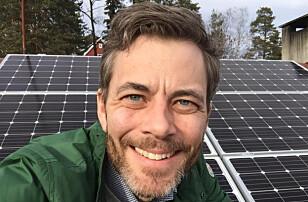 LØNNSOMT PÅ SIKT: Andreas Thorsheim i Otovo mener solcellepanler er god økonomi i et 30-årsprerspektiv. Foto: Otovo