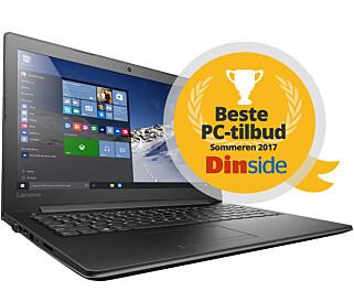 Lenovo Ideapad 310 fra Elkjøp er kåret til Beste PC-tilbud sommeren 2017, i klassen under 4.000 kroner. Illustrasjon: Dinside