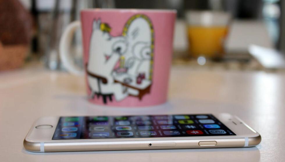 MEST BRUKT: Apple iPhone 6 er den mest brukte telefonen i Norge; i hvert fall blant de som bruker Telenors mobilnett. Foto: Kirsti Østvang