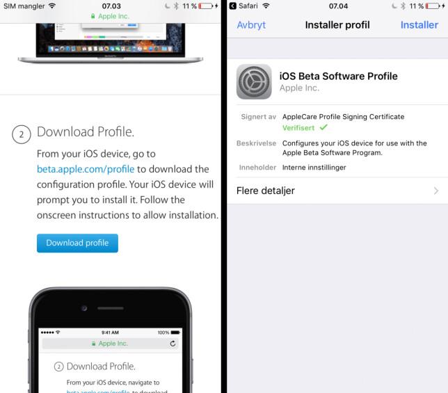 image: Nå kan alle teste iOS 11
