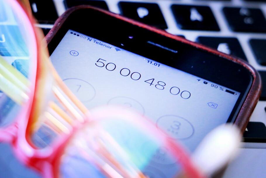 NYE NUMMER: Å sette et femsifret telefonnummer bak et 500-nummer kan bli en løsning på at selskaper nå må slutte å kreve høye priser for kundeservice. Men det blir uansett ikke helt slutt på femsifrede telefonnummer. Foto: Ole Petter Baugerød Stokke