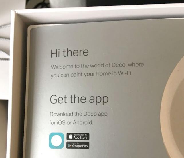 MÅ HA APPEN: Du blir straks bedt om å laste ned Deco-appen for Android-mobiler eller iPhone/iPad. Foto: Bjørn Eirik Loftås