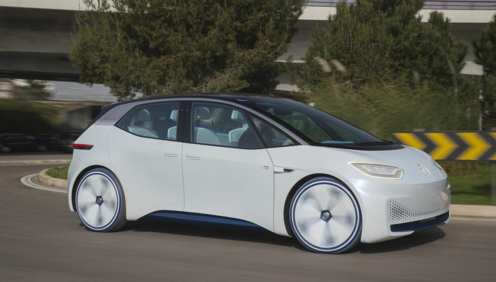 <strong>SLIK SER DEN UT, FORELØPIG:</strong> VW regner med at I.D. blir deres nye Golf, som i sin tid overtok for Bobla. Men I.D. blir elektrisk. Foto: Ingo Barenschee