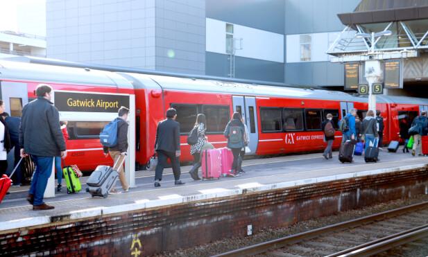 TIL OG FRA FLYPLASSEN: Tog eller bane er de mest effektive transportmidlene fra flyplassene rundt London. Foto: Hanna Sikkeland