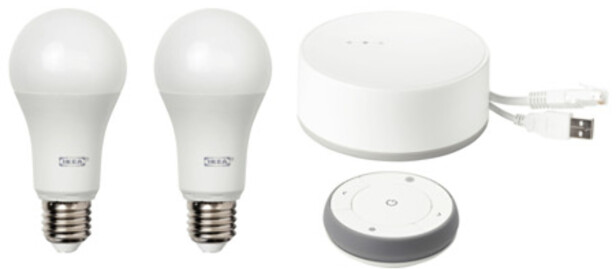 FOLKE-SMARTLYSET: Når IKEA satser på smartlys, er det grunn til å tro de har sjekket behovet først. Men konkurrentene har skrudd ned prisene...Foto: IKEA