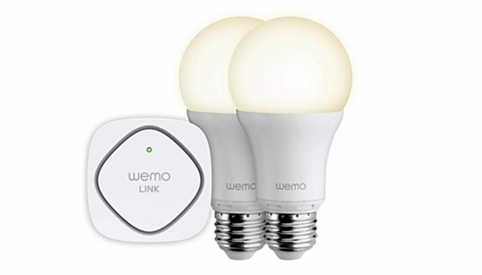 NOK EN UTFORDRER: Belkin har vært på smarthjemsmarkedet med sin Wemo-serie en god stund. De styrbare LED-lysene er av nyere dato. Foto: Belkin