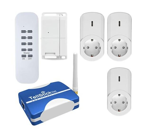 SMARTKONTAKT: Tellstick er et billigmerke som kan styre en mengde elektriske apparater hjemme. Foto: Clas Ohlson