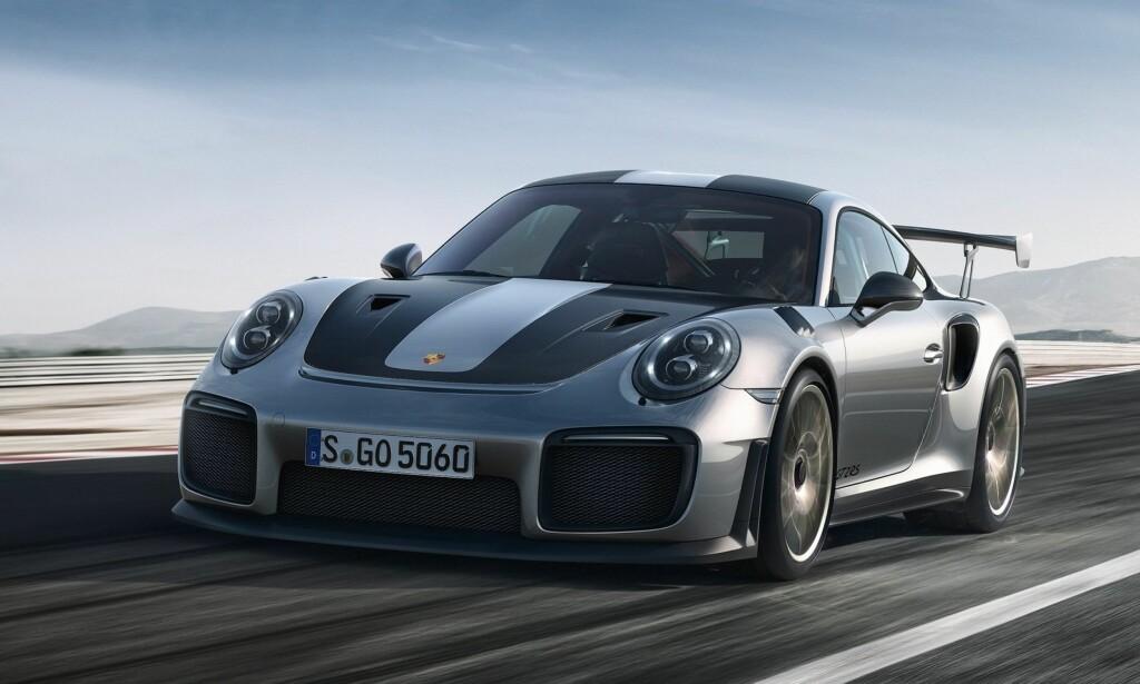 KRAFTPLUGG: Porsche 911 GT2 RS. Foto: Porsche