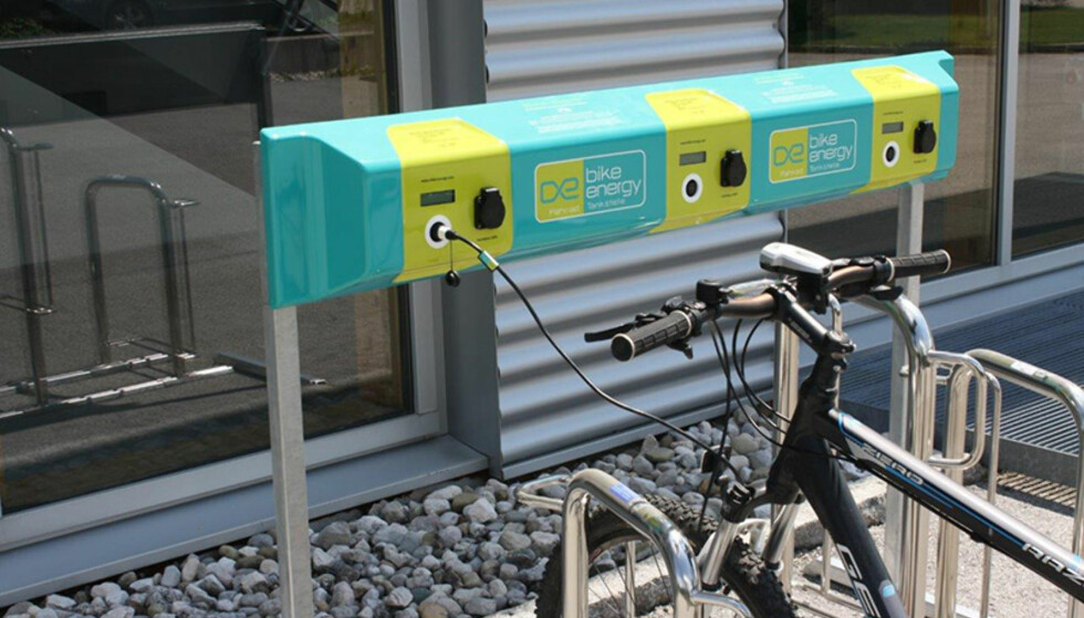 OFFENTLIG LADING: Ladepunkter som dette finnes nå mange steder i Tyskland. Foto: Bike-energy.com