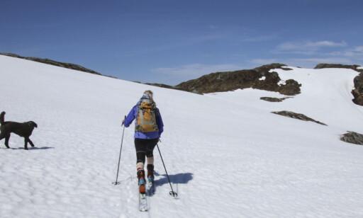 AKTIVITETER: Jakkene ble testet på ski, sykkel og til fots. Foto: Arnt Flatmo