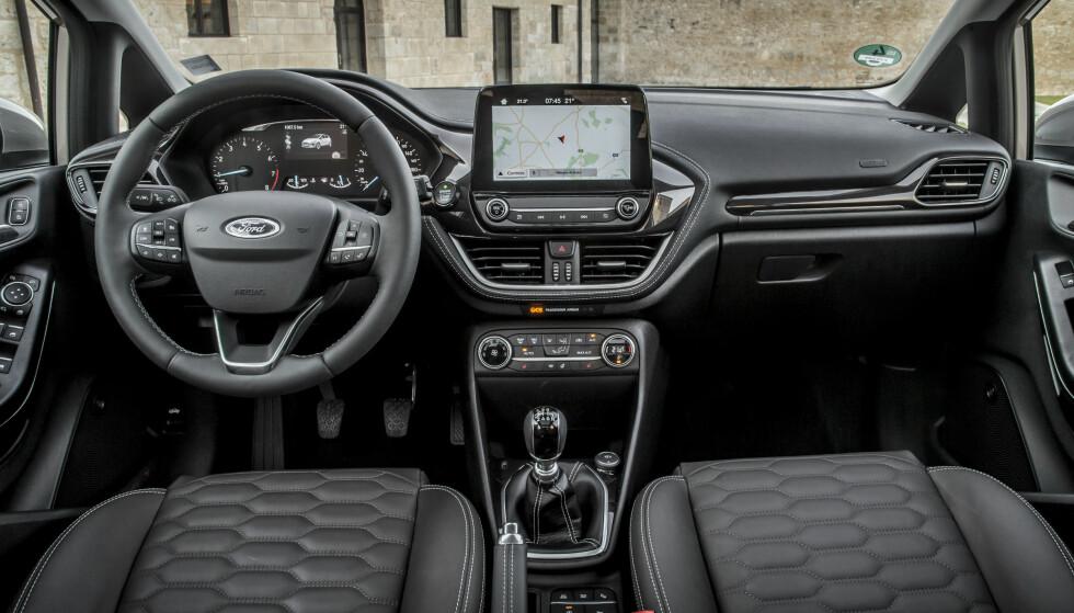 Nye takter: Ford viser et nytt designspråk for interiøret i nye Fiesta. Foto: Ford