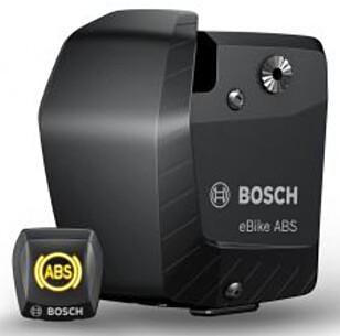 <strong>STOR KLUMP:</strong> ABS-kontrollenheten øker vekta med hele 800 gram, og er ikke akkurat diskret. Foto: Bosch