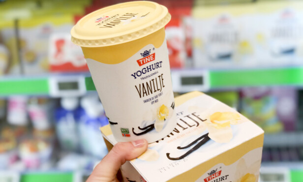 <strong>KIWI:</strong> På Kiwi koster 4x150 gram 26,50 per kilo, mens 500 gram vaniljeyoghurt koster 34,20 per kilo. Foto: Hanna Sikkeland.