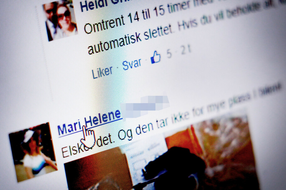FALSKE KOMMENTARER, EKTE NAVN: Under de falske artiklene, ligger det mange falske kommentarer. Profilbildene er tilfeldige, mens navnene er reelle. Navnene kan være stjålet fra Facebook. Foto: Ole Petter Baugerød Stokke