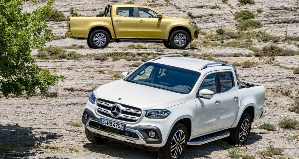 <strong>LUKSUSALTERNATIVET:</strong> Mercedes trodde tiden var inne for et forfinet alternativ i det voksende pickup-segmentet, men slutter å produsere sin Nissan-baserte X-klasse allerede i mai, drøyt to år etter lansering. Foto: Mercedes.