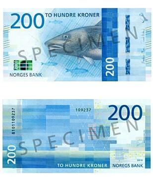 200-LAPPEN. Foto: Norges Bank