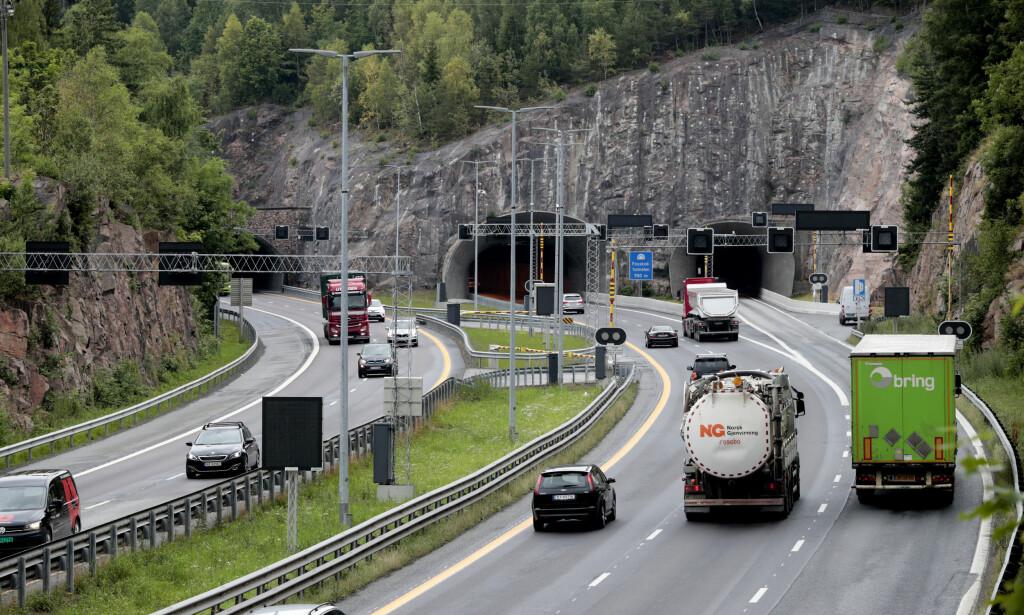 GOD DEKNING: Vi hørte DAB-radio i tunnelene vi passerte på E18. Lise Åserud / NTB scanpix