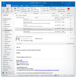 VI FIKK SVARENE: Da e-postene ble sendt ut med oss som avsender (vel å merke ikke ut fra vår server), var det vi som fikk svarene på skattesvindelen. Foto: Ole Petter Baugerød Stokke