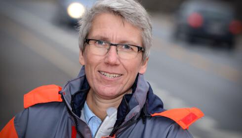Færre drepte: Guro Ranes i Statens vegvesen melder om færre drepte i trafikken.