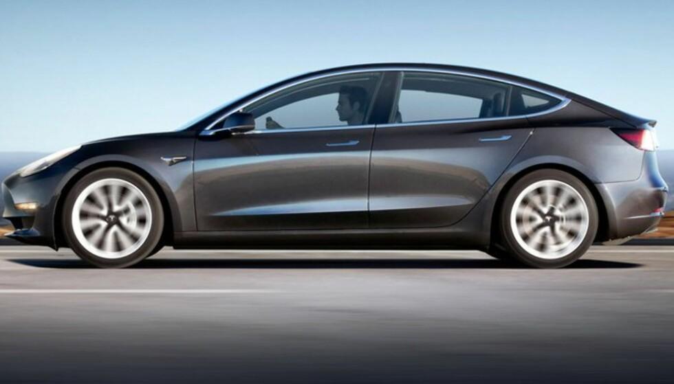 Nært slektskap: Designet viser slektskapet til Model S. Foto: Tesla