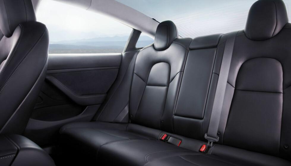 Lover god plass til fem: En ting er plass til fem, men her skal de også sitte komfortabelt, lover Musk. Foto: Tesla