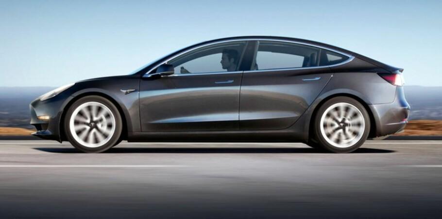 NYLANSERT: Tesla Model 3 ble lansert lørsdag 29. juli norsk tid. Foto: Tesla