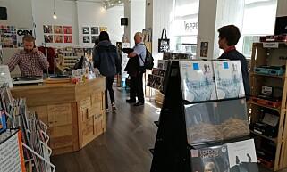 INGEN CD Å SE: Platebutikkene domineres nå fullstendig av LP-plater. Foto: Bjørn Eirik Loftås