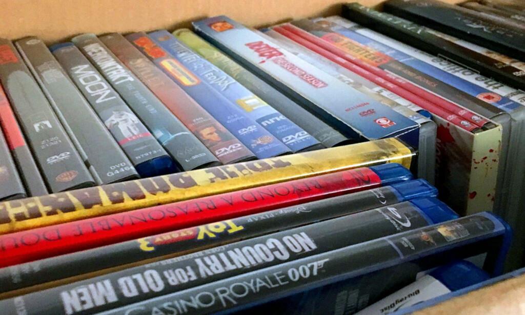 VOKSER: Det selges fortsatt mye film på DVD og Blu-ray. Sistnevnte har hatt en økning på 27 prosent siden i fjor. Foto: Bjørn Eirik Loftås
