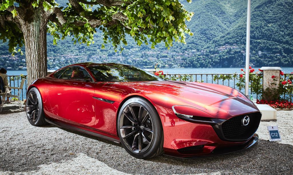 KODO + WANKEL: Mazda går sine egne veier, både når det gjelder design og når det gjelder teknologi. Her ser vi konseptet RX Concept, som ble vist i 2015 - med rotasjonsmotor! Foto: Mazda
