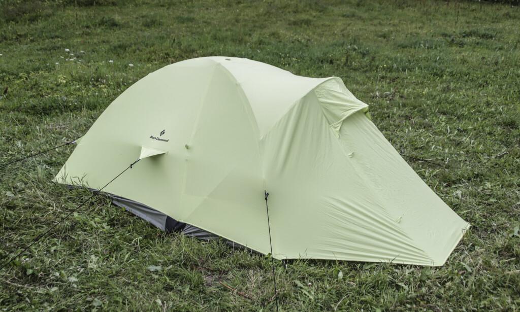 Lite fotavtrykk: Teltet fra Black Diamond passer for små teltplasser. Foto: Øivind Lie-Jacobsen