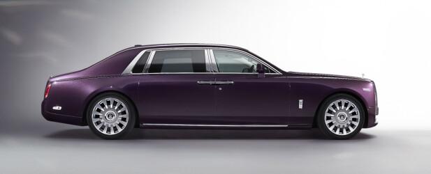 LANG VERSJON: Med en akselavstand på hele 375 centimeter og nesten seks meter i lengden vil nye Phantom fremstå dominerende i trafikkbildet. Proporsjonene er typisk Rolls-Royce og henspiller på merkets - og Phantom-modellens - historie. Foto: Rolls-Royce