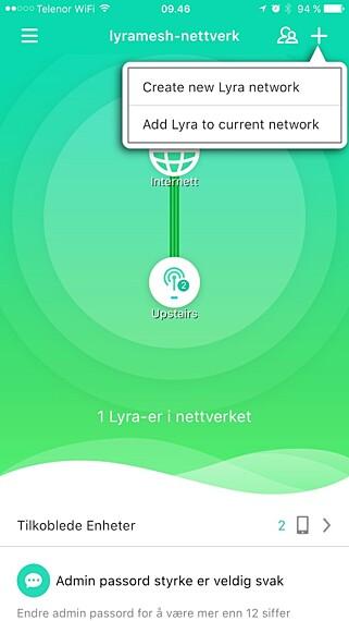 SALIG BLANDING: Appen er enkel og gir en fin oversikt over hva som er tilkoblet. Men språket er under pari. Skjermdump: Dinside.no
