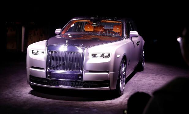 AVDUKET: Her vises den nye Rolls-Royce Phantom i London 27. juli. Foto: REUTERS/Peter Nicholls