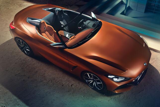 ESSENSIELT: I en skarpt designet og sportslig designet innpakning fremstår den kommende BMW-roadsteren smakfullt minimalistisk. Foto: BMW