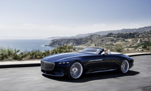 RASK: Den hel-elektriske kabrioleten kan akselerere fra 0 til 100 på under fire sekunder takket være sine fire elmotorer på tilsammen 750 hestekrefter. Foto: Daimler