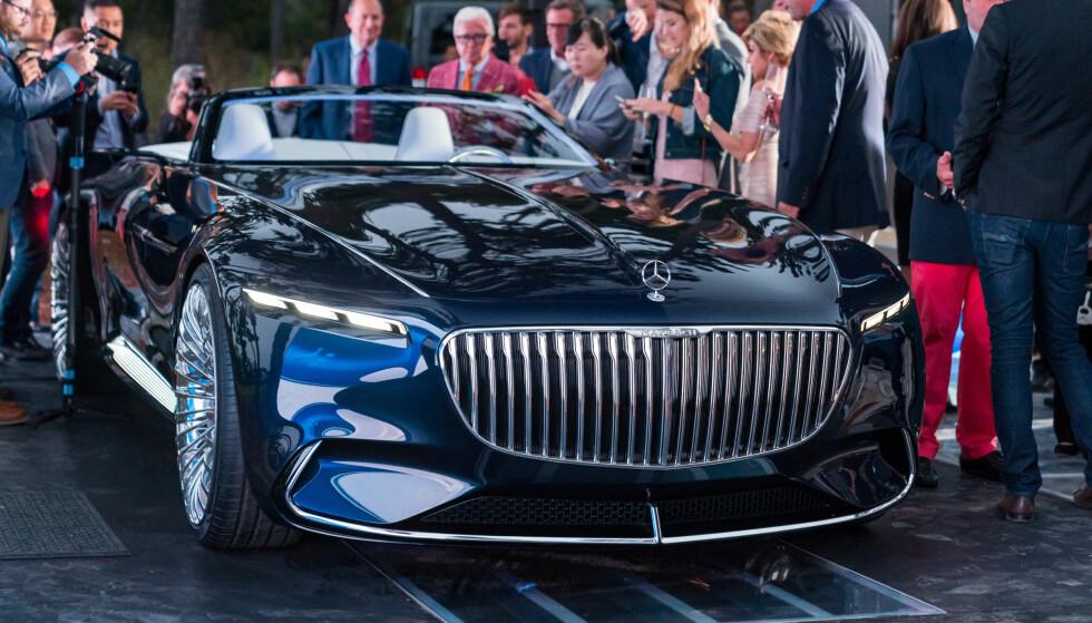 VEKKER OPPSIKT: Her vises den nye Maybach-en for publikum under Monterey Car Week i forrige uken. Foto: Daimler