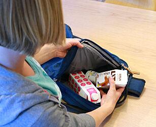 image: Så lenge holder skolemelk-produktene i sekken