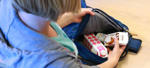 Så lenge holder skolemelk-produktene i sekken