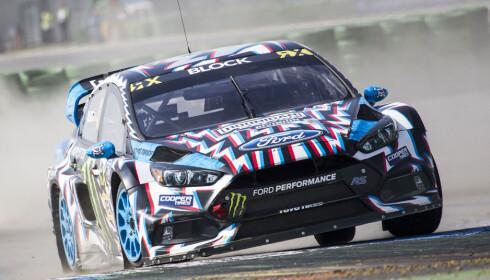 I AKSJON: Block er ikke verdensmester, men han <em>kan</em> kjøre bil. Foto: TGSPhoto/REX/Shutterstock
